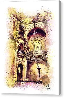 Saint Nicholas Church Prague  Canvas Print by Justyna JBJart