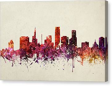 Saint Paul Cityscape 09 Canvas Print by Aged Pixel
