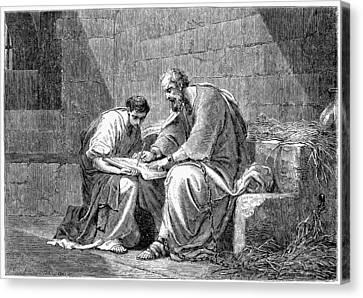 Saint Paul In Prison Canvas Print by Granger