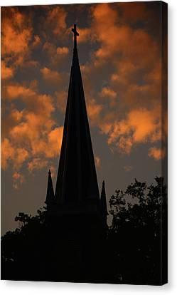 Canvas Print - Saint Peter's Church At Sunset by Raymond Salani III