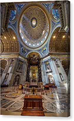 Christian Canvas Print - Saint Peter's Grandeur by Inge Johnsson