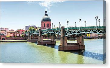 Canvas Print featuring the photograph Saint-pierre Bridge In Toulouse by Elena Elisseeva