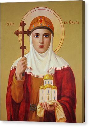 Saint Princess Olga Canvas Print by Svitozar Nenyuk