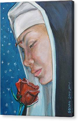 Saint Rita Of Cascia Canvas Print by Bryan Bustard