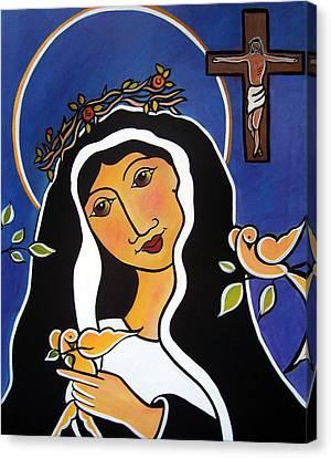 Saint Rita - Patron Of Impossible Causes Canvas Print