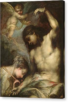 Saint Sebastian Canvas Print by Andrea Celesti
