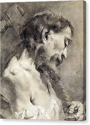 Sombre Canvas Print - Saint Simon by Giovanni Battista Piazzetta