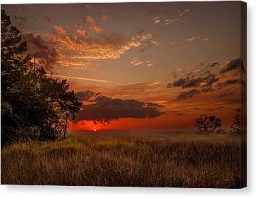 Saint Simons Island Salt Marsh Twilight Canvas Print