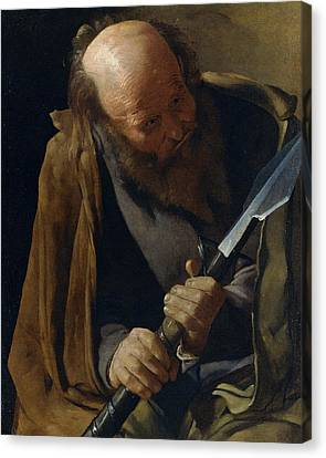 Saint Thomas Canvas Print by Georges de La Tour