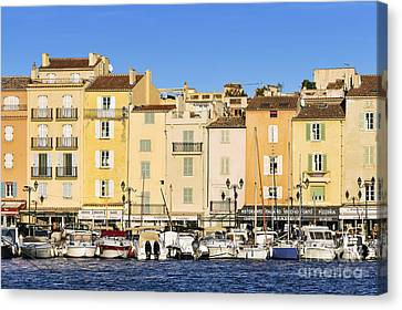 Saint-tropez Waterfront Canvas Print by John Greim