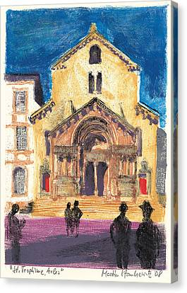 Canvas Print featuring the painting Saint Trophime Arles Provence by Martin Stankewitz