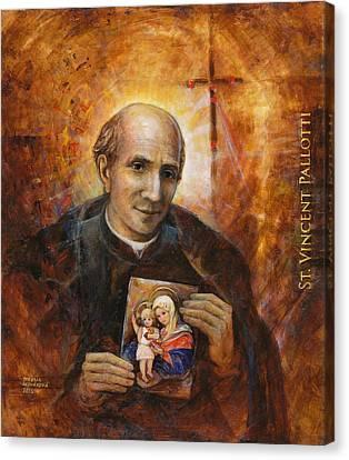 Saint Vincent Pallotti Canvas Print by Terezia Sedlakova Wutzay
