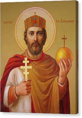 Saint Volodimir Canvas Print - Saint Volodymyr by Svitozar Nenyuk