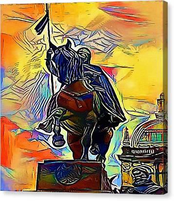 Saint Wenceslas In Prague - My Www Vikinek-art.com Canvas Print by Viktor Lebeda