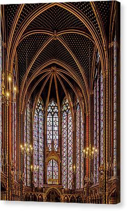 Sainte-chapelle 1 Canvas Print by Janet Fikar