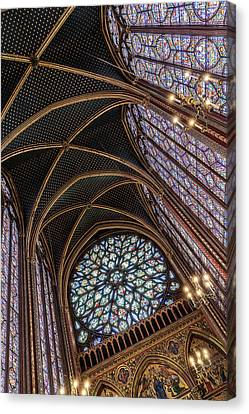Sainte-chapelle 4 Canvas Print by Janet Fikar