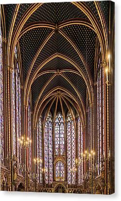 Sainte-chapelle 6 Canvas Print by Janet Fikar