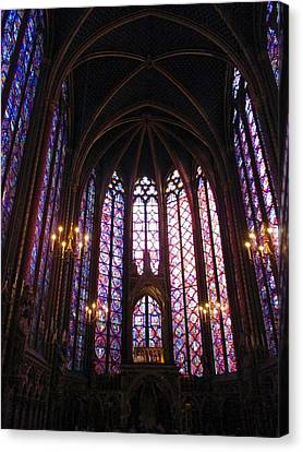 Sainte-chapelle Canvas Print by Christopher Kirby