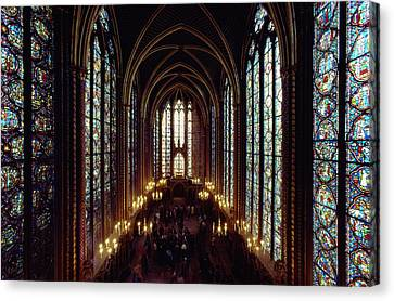 Sainte-chapelle Interior Showing Canvas Print by James L. Stanfield