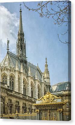 Sainte Chapelle Paris Canvas Print by Joan Carroll