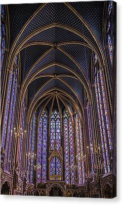 Sainte Chapelle Stained Glass Paris Canvas Print by Joan Carroll