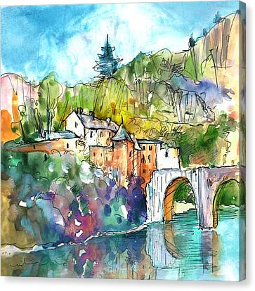 Sainte Enimie 01 Canvas Print
