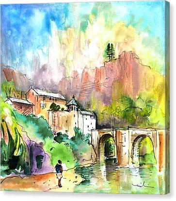 Sainte Enimie 03 Canvas Print by Miki De Goodaboom