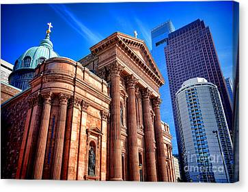Saints Peter And Paul In Philadelphia   Canvas Print by Olivier Le Queinec