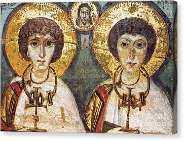 Icon Byzantine Canvas Print - Saints Sergius And Bacchus by Granger