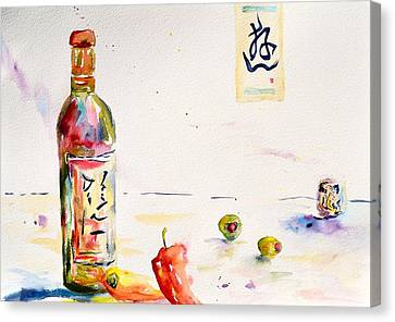 Sake Canvas Print by Beverley Harper Tinsley