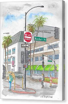 Saks Fth Avenue In Wilshire Bvd., Beverly Hills, California Canvas Print by Carlos G Groppa