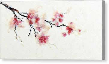 Sakura Branch Canvas Print