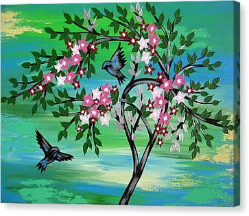 Sakura Freshness Canvas Print by Cathy Jacobs