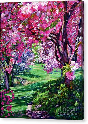 Sakura Romance Canvas Print by David Lloyd Glover