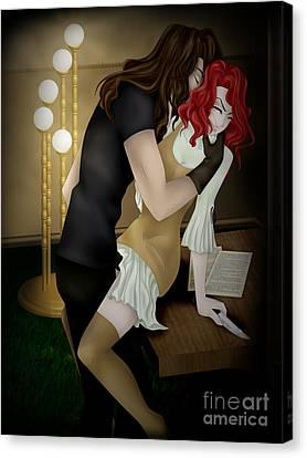 Salaciousness Canvas Print by Sandra Hoefer