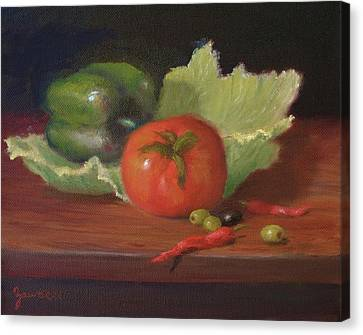 Salad By Alan Zawacki Canvas Print