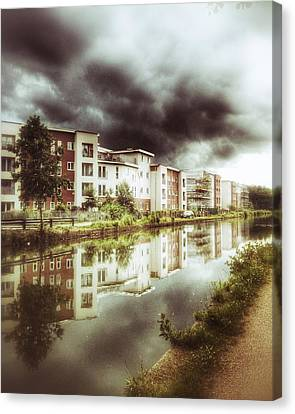 Sale Canal Canvas Print by Isabella F Abbie Shores