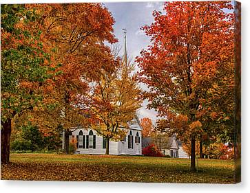 Canvas Print featuring the photograph Salem Church In Autumn by Jeff Folger