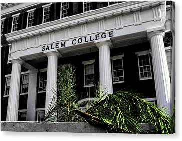 Canvas Print featuring the photograph Salem College by Jessica Brawley