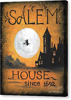 Haunted House Canvas Print - Salem House by Margaryta Yermolayeva