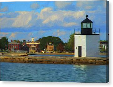 Salem Maritime Waterfront In Digital Art Canvas Print