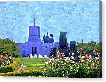 Salem Oregon State Capital Canvas Print by Margaret Hood