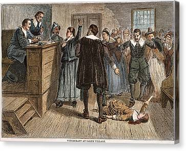 Salem Witch Trials, 1692 Canvas Print by Granger