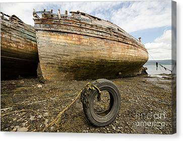 Salen Wrecks Canvas Print by Nichola Denny