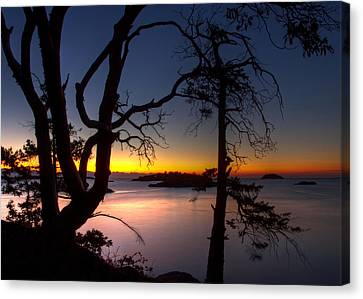 Salish Sunrise Canvas Print by Randy Hall
