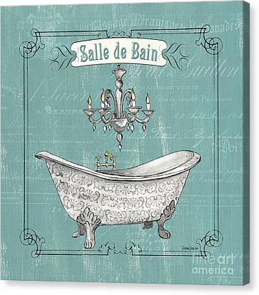 Wash Tubs Canvas Print - Salle De Bain by Debbie DeWitt