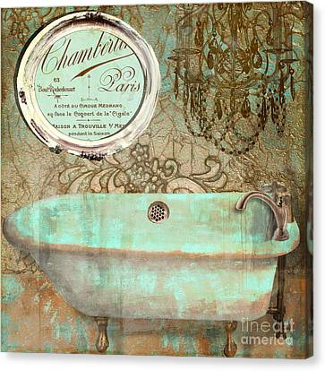 Salle De Bain I Canvas Print by Mindy Sommers