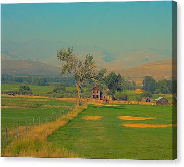 Robert Morrissey Canvas Print - Salmon Idaho Otr Detour by Robert Morrissey