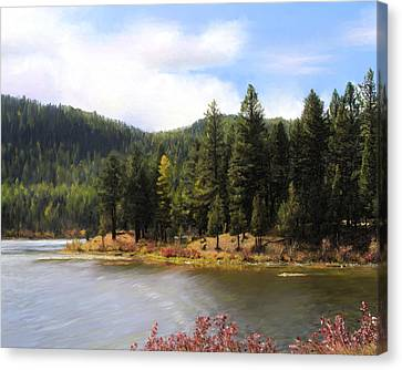 Salmon Lake Montana Canvas Print