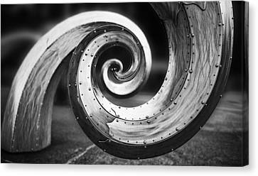 Salmon Waves Black And White Canvas Print by Pelo Blanco Photo